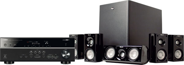 yamaha 4065 klipsch hdt cha nes home cin ma son vid. Black Bedroom Furniture Sets. Home Design Ideas
