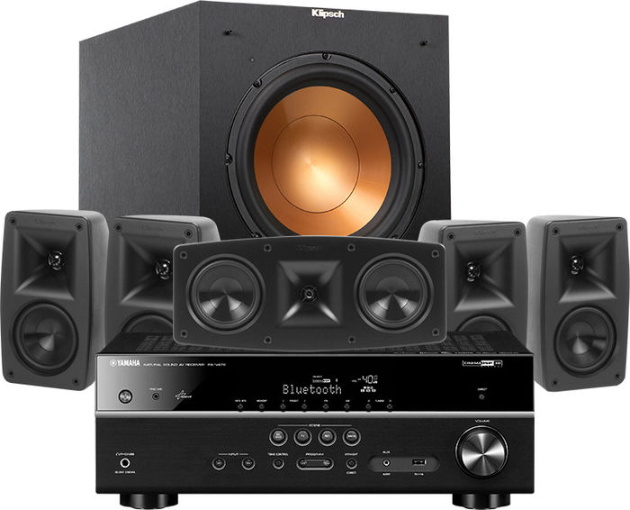 yamaha rx v479 klipsch quintet 5 1 cha nes son. Black Bedroom Furniture Sets. Home Design Ideas