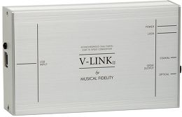 Musical Fidelity V-LINK II Vue 3/4 gauche