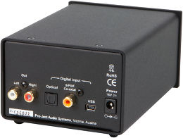 Pro-Ject DAC Box DS Vue arrière