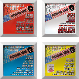 Quadrilogie Philadelphia Sound + cadre Rockonwall Vue principale