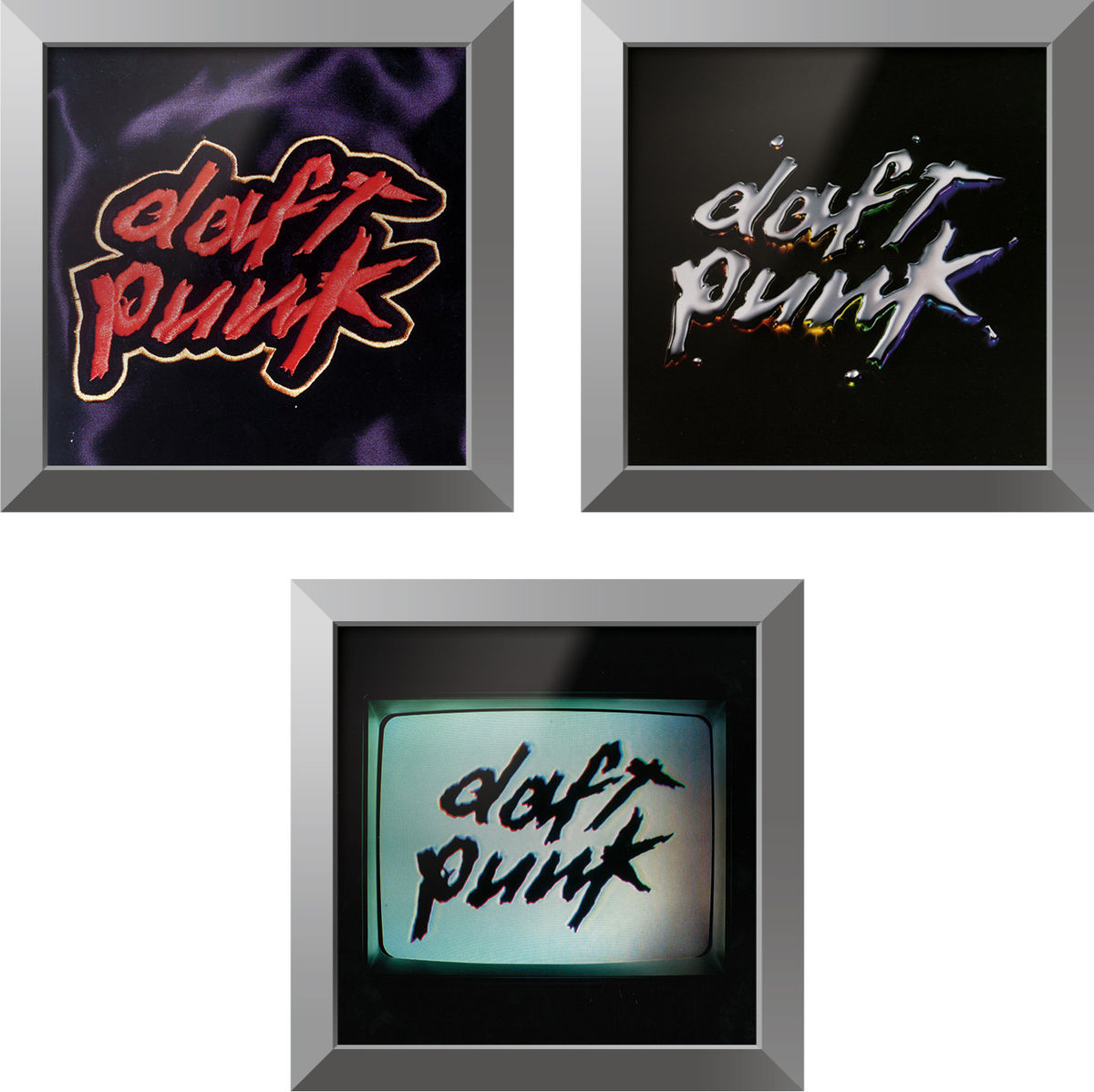trilogie daft punk cadre rockonwall cadres son. Black Bedroom Furniture Sets. Home Design Ideas