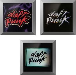 Trilogie Daft Punk + cadre Rockonwall