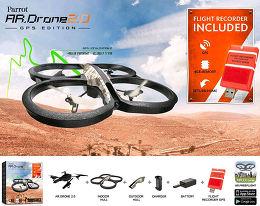 Parrot AR.Drone 2.0 GPS Edition Vue Accessoire 1