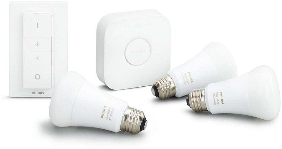 Éclairage connecté Philips Hue Kit de démarrage Ambiance E27