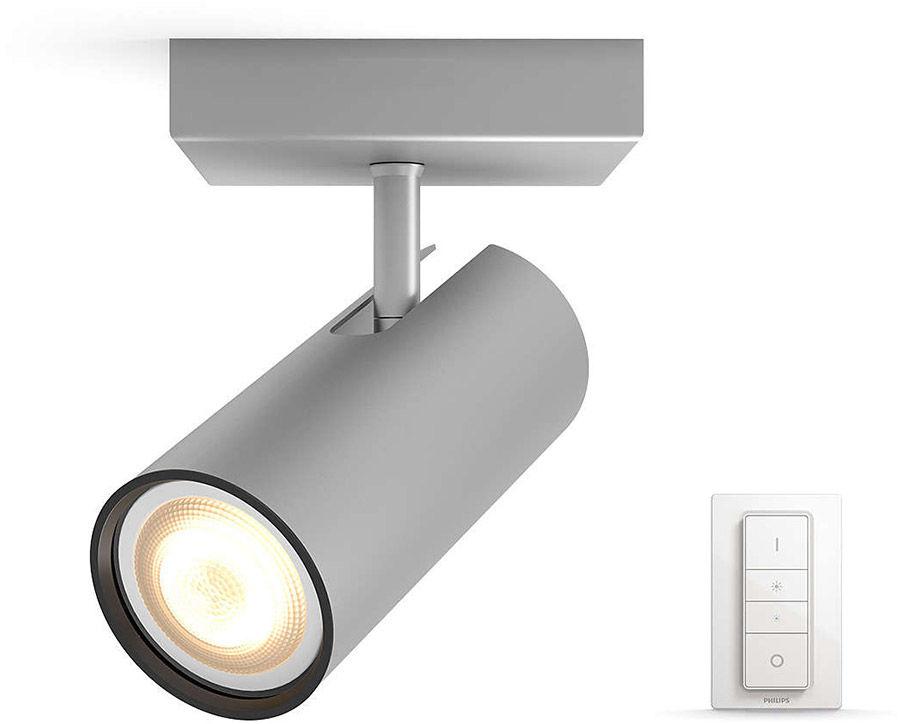 Éclairage connecté Philips Hue Buratto 1 Spot Silver