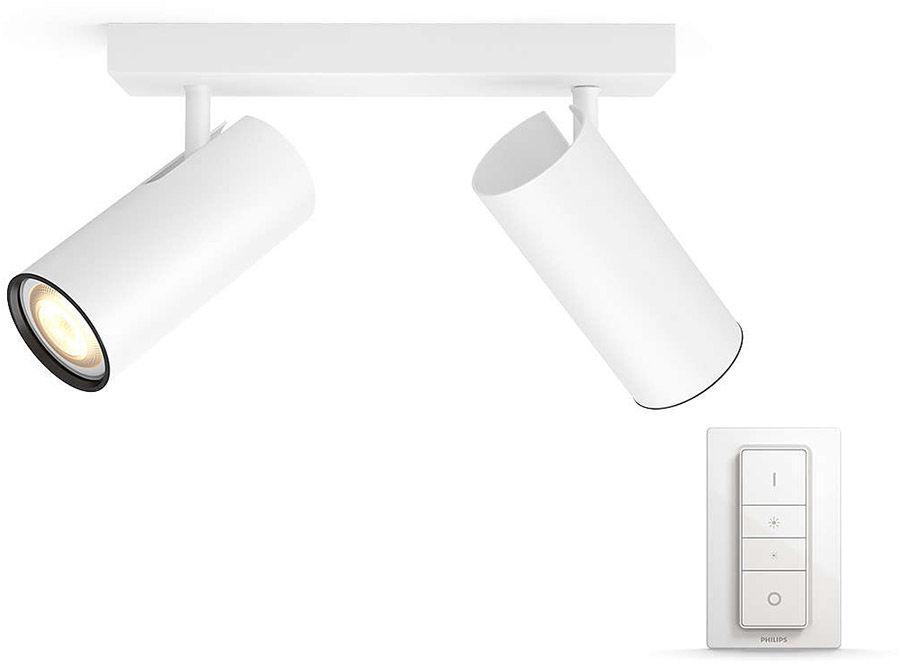 Éclairage connecté Philips Hue Buratto 2 Spots Blanc