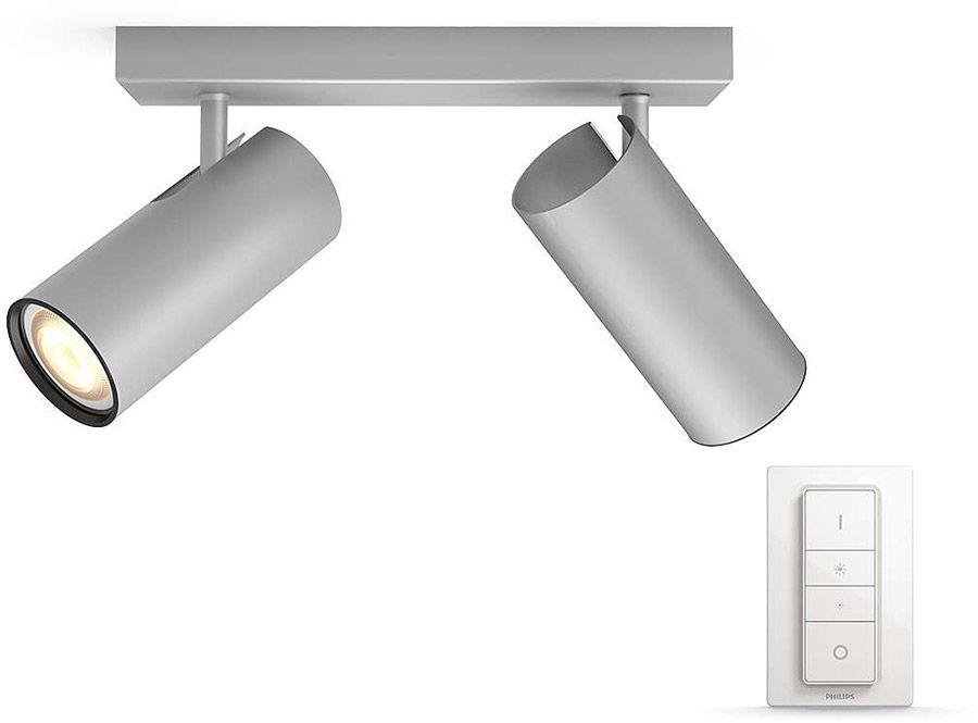 Éclairage connecté Philips Hue Buratto 2 Spots Silver
