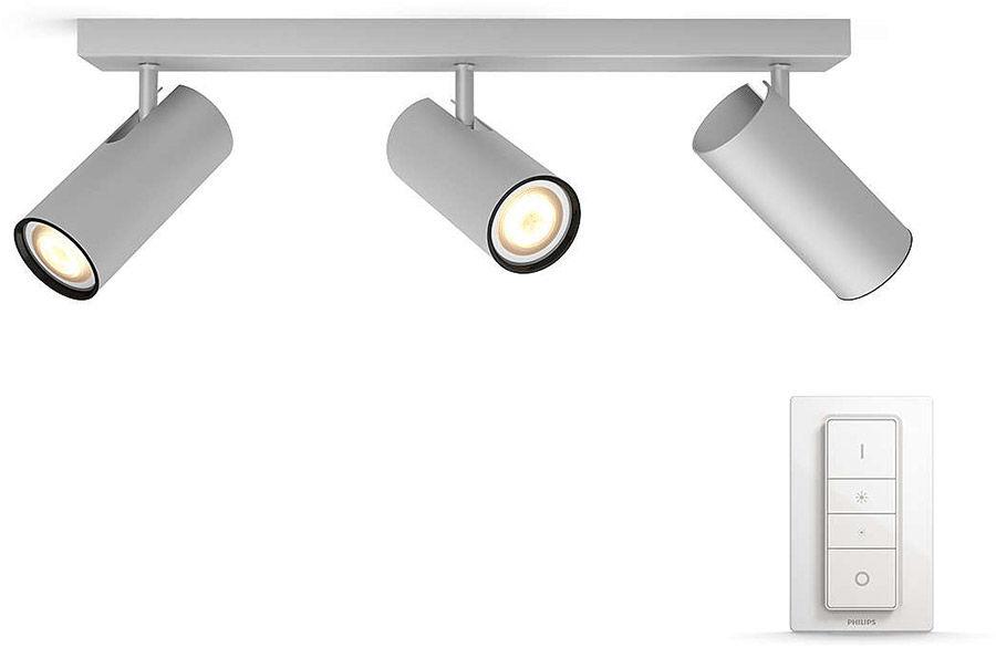 Éclairage connecté Philips Hue Buratto 3 Spots Silver