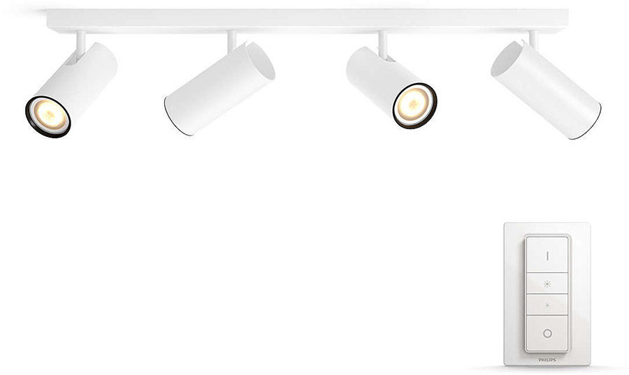 Éclairage connecté Philips Hue Buratto 4 Spots Blanc