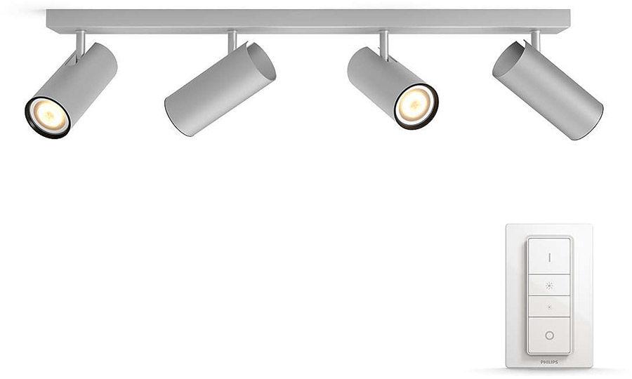Éclairage connecté Philips Hue Buratto 4 Spots Silver