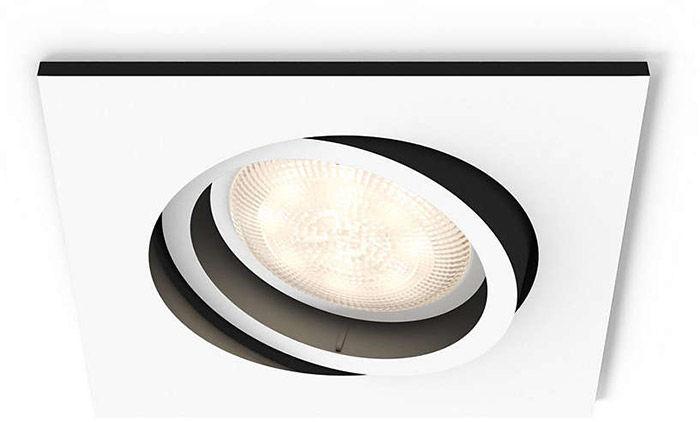 Éclairage connecté Philips Hue Milliskin Carré Blanc (sans télécommande)