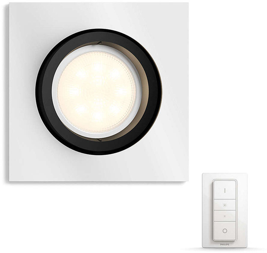 Éclairage connecté Philips Hue Milliskin Carré Chrome