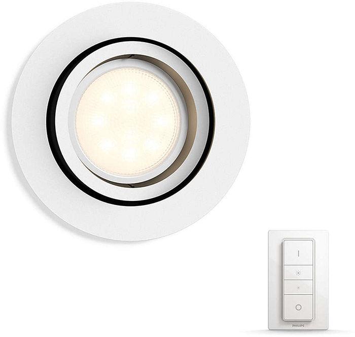 Éclairage connecté Philips Hue Milliskin Rond Blanc