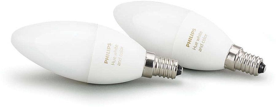 Éclairage connecté Philips Hue White and Color Pack Flamme Duobox E14 (lot de 2)