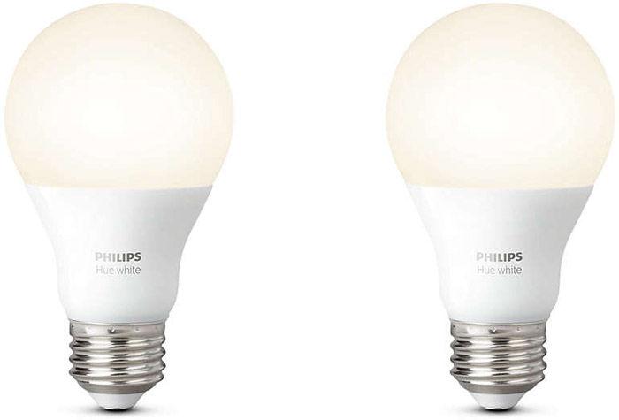 Éclairage connecté Philips Hue White E27 (lot de 2)