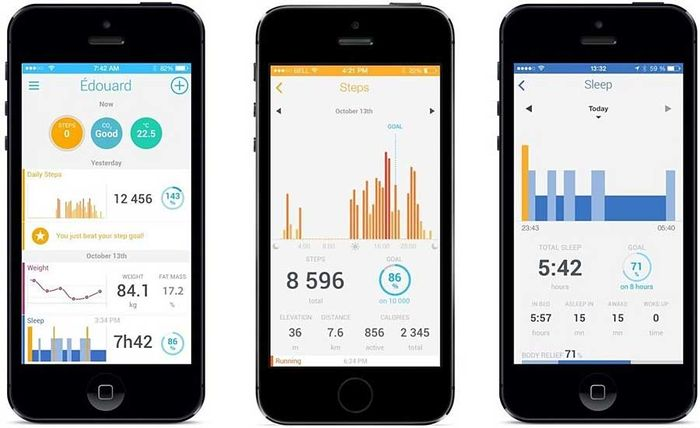 Withings Pulse Ox : une application simple et intuitive