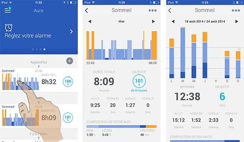 L'application de contrôle Withings Aura
