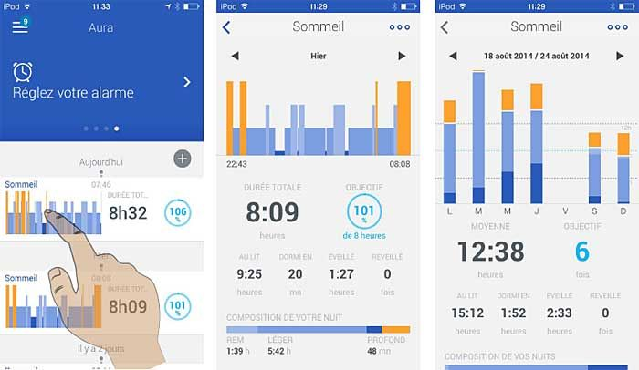 Withings Aura : application iOS/Android