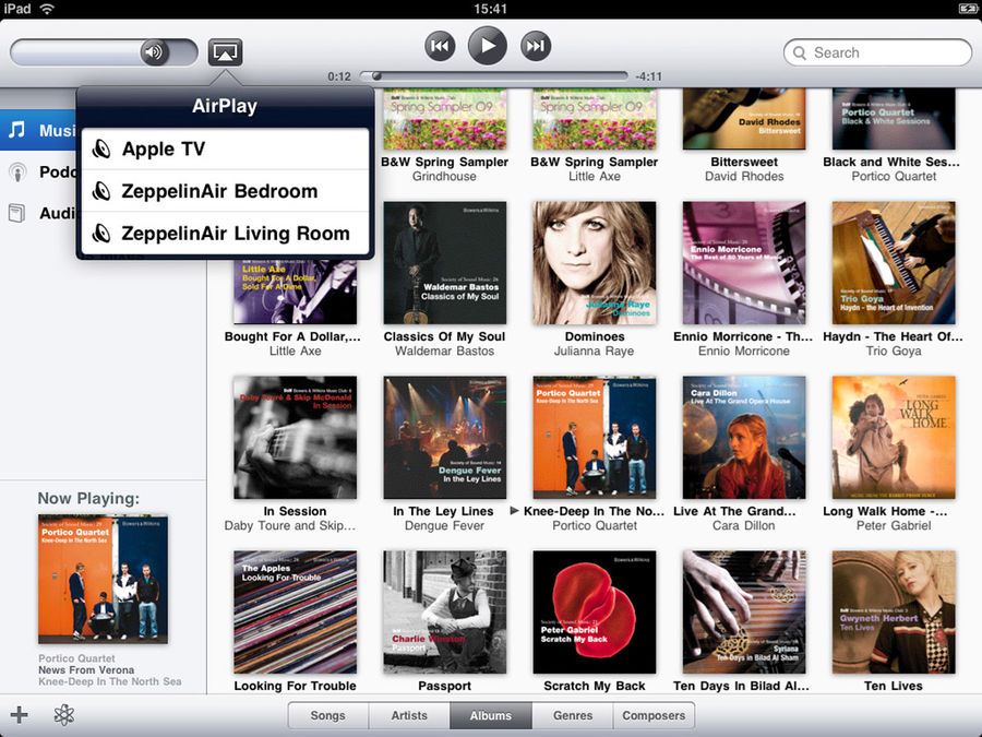 AirPlay - Interface iPad