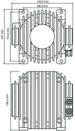 ButtKicker LFE avec Kit Vue schéma dimensions