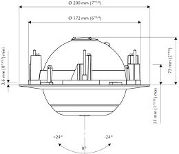 Cabasse Eole 3 In Ceiling Vue schéma dimensions