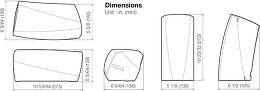 Denon Heos 3 Vue schéma dimensions