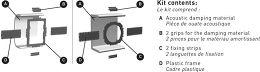 Kit de montage Focal IW-706V Vue de détail 1