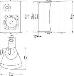 Fusion MS-OS420 Vue schéma dimensions