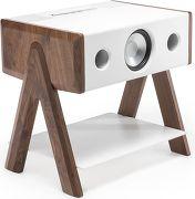 La Boite Concept Cube Corian Séries Blanc et bois foncé