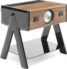 Station multimédia La Boîte Concept Cube Woody Noir et noyer