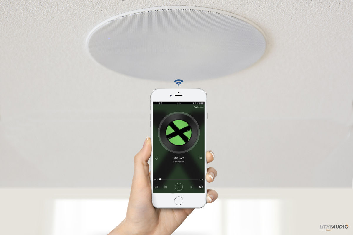 lithe audio bluetooth ceiling speaker pin protect. Black Bedroom Furniture Sets. Home Design Ideas