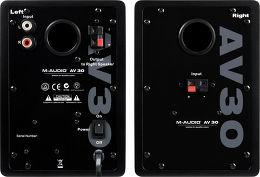 M-Audio Studiophile AV30 V2 Vue arrière