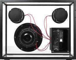 People People Transparent Speaker Vue arrière