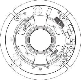 Q Acoustics Qi65C Performance Vue arrière