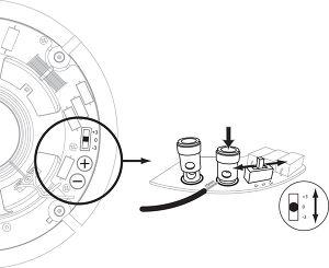Q Acoustics Qi65C Performance ST borniers