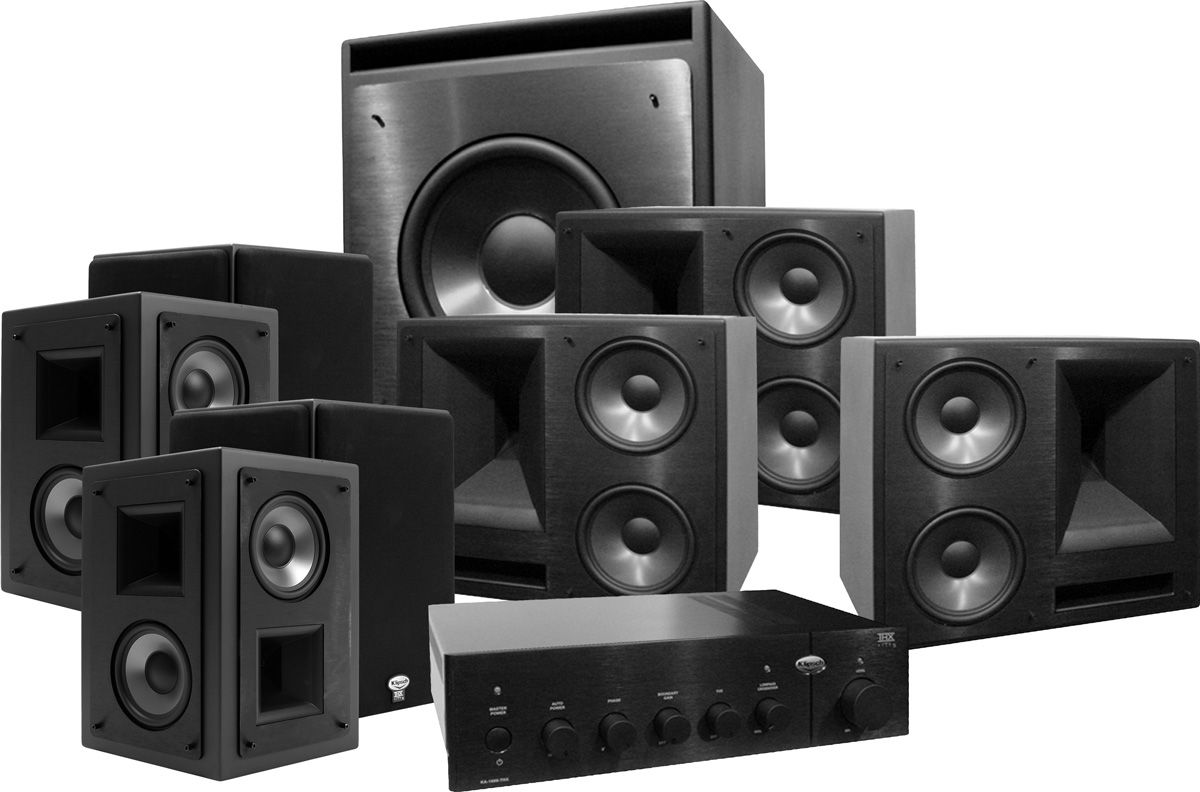 klipsch 650 thx ultra 2 system 7 1 kw 120 son vid. Black Bedroom Furniture Sets. Home Design Ideas