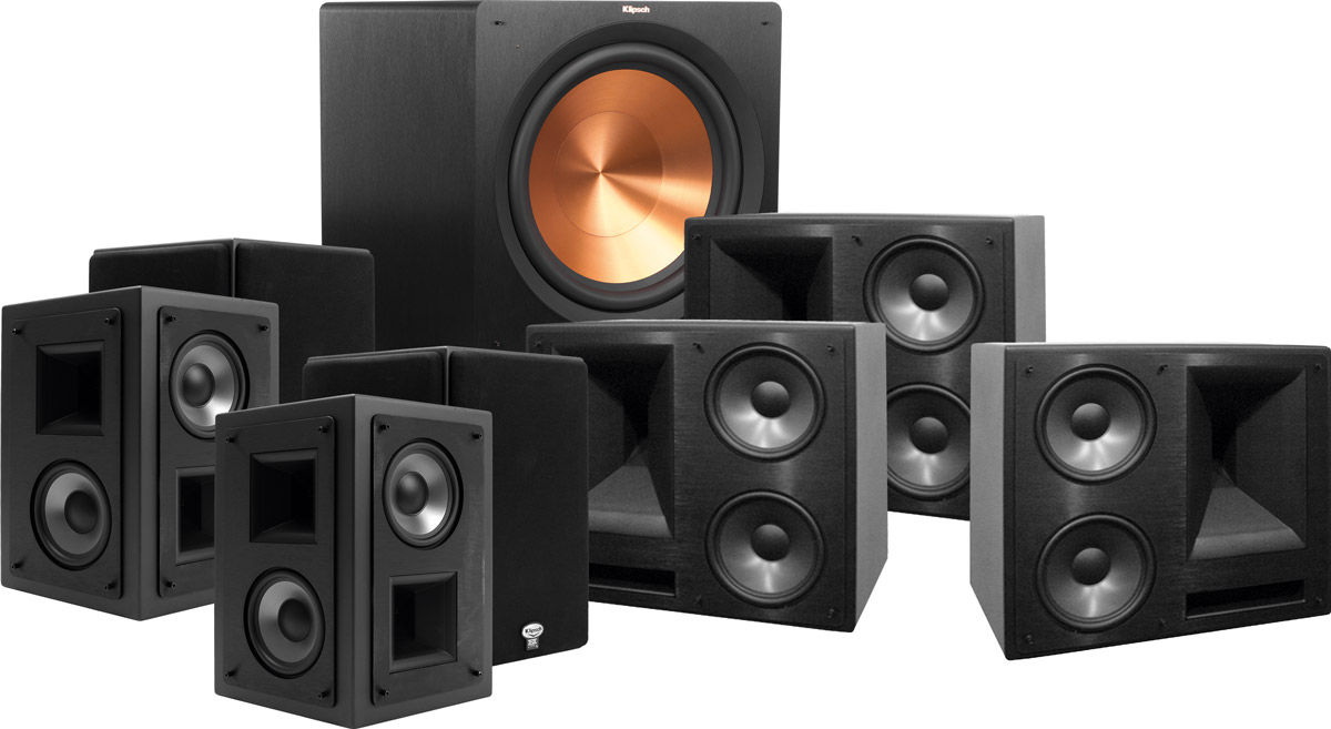 klipsch 650 thx ultra 2 system 7 1 r 115sw son vid. Black Bedroom Furniture Sets. Home Design Ideas