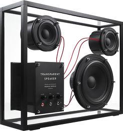 People People Transparent Speaker AirPlay Vue 3/4 gauche