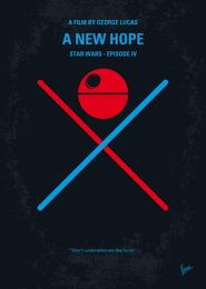 Displate Star Wars 4 - Un Nouvel Espoir Vue principale