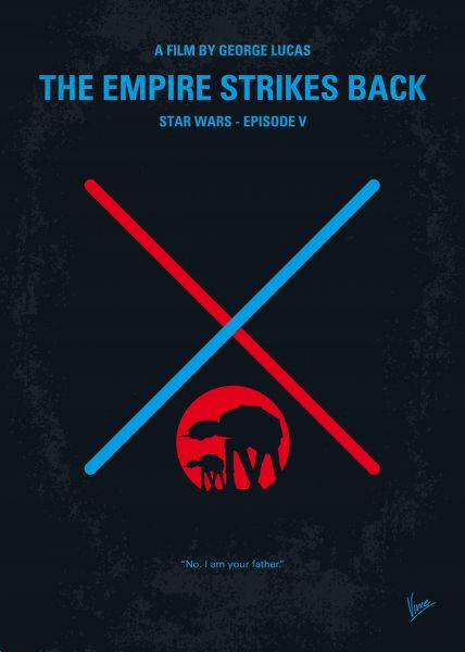 Displate Star Wars 5 - L'Empire Contre Attaque Vue principale