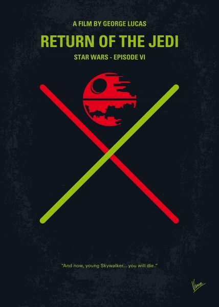 Displate Star Wars 6 - Le Retour du Jedi Vue principale