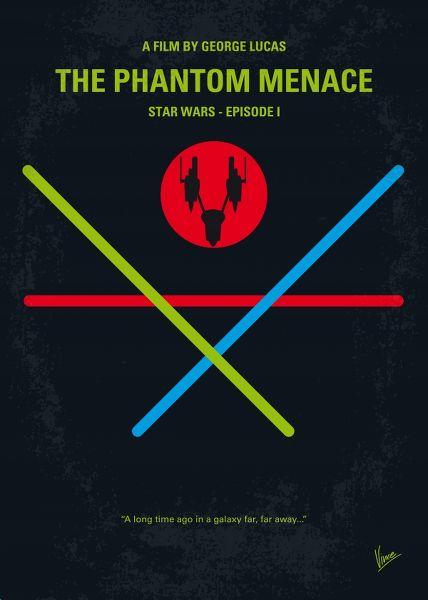 Displate Star Wars 1 - La Menace Fantôme Vue principale