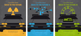 Displate Back to the Future Trilogie