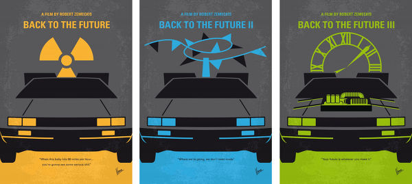 Displate Back to the Future Trilogie Vue principale