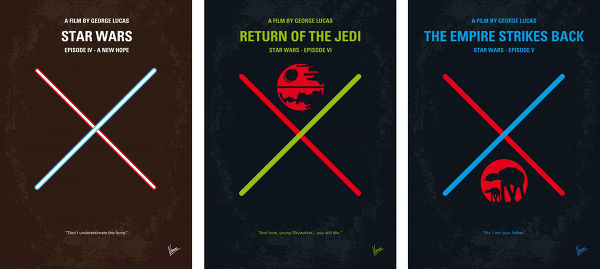 Displate Star Wars Trilogie 2 Vue principale