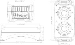 Fusion MS-AB206 Vue schéma dimensions