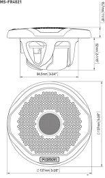 Fusion MS-FR4021 Vue schéma dimensions