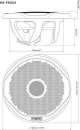 Fusion MS-FR7021 Vue schéma dimensions