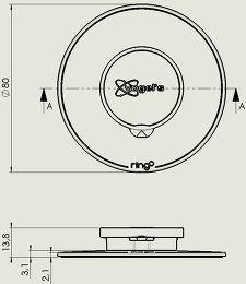 Vogel's TMM-107 Vue schéma dimensions